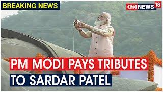 PM Modi Arrives At Kevadia, Pays Tribute To Sardar Vallabhbhai Patel On His Birth Anniversary
