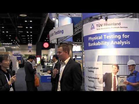 TUV Rheinland at Solar Power International 2012 in Orlando, FL