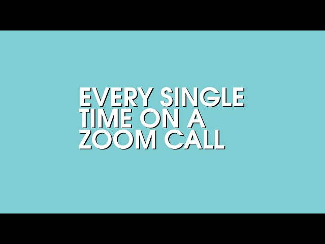 Every Zoom Meeting Whilst Working From Home, Right Here! | mix94.5