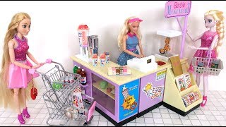 Barbie Mini Mart Grocery Store Supermarket Unboxing دمية باربي ميني مارت Supermercado boneca Barbie