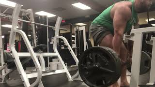 405lbs x 40 Beltless Romanian Deadlift!