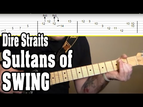 Dire Straits - Sultans of Swing Guitar Tutorial w/Tabs