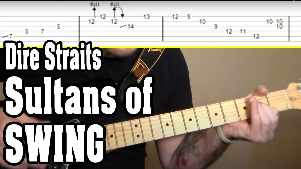Dire Straits Sultans Of Swing Guitar Tutorial W Tabs Youtube
