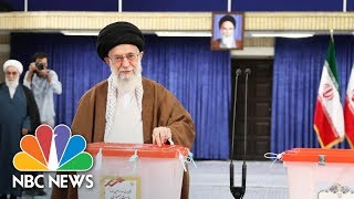 Iran's Supreme Leader And President Cast Their Votes In Election | NBC News