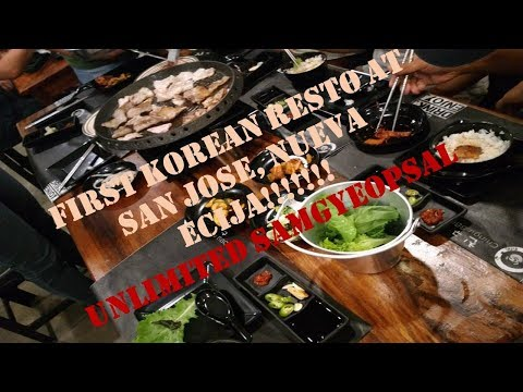 First Korean Resto In San Jose Nueva Ecija!! UNLIMITED SAMGYEOPSAL| Vlog #9