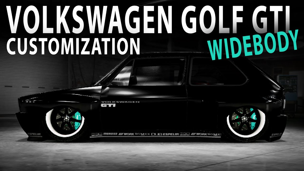 Midnight Club LA - Volkswagen GOLF GTI 1983 WIDEBODY (Customization) - YouTube
