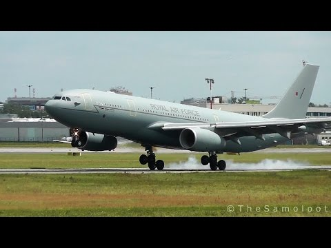 Royal Air Force - Airbus KC3 Voyager landing at Warsaw Chopin Airport [NATO Summit 2016]