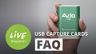 USB capture cards FAQ