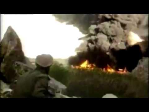 Soviet Union Soldiers / Planes vs Afghanistan Rebels (Mujahidin RPG's) Firefight Footage