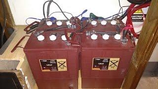 Initial checkout: Trojan L16E-AC batteries (DIY off-grid home solar power station)