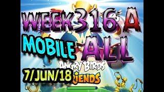 Angry Birds Friends Tournament All Levels Week 316-A MOBILE Highscore POWER-UP walkthrough