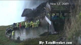 man jumps over niagara falls camera angle 1