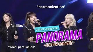 아이즈원 IZ*ONE sings Panorama in actual live performance ( not pre-recorded )