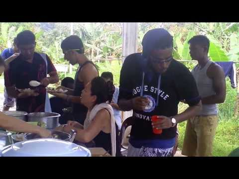 Borneo Experience - Tourists having lunch at Danu Homestay