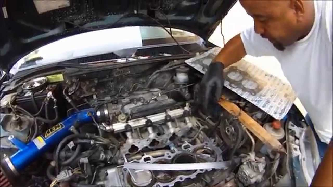 DIAGNOSING A BLOWN HEAD GASKET WITH A HOME MADE CYLINDER LEAK DOWN TESTER  HONDA SOHC VTEC 1 6L