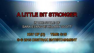 Sara Evans (w/ Hillary Scott) - A Little Bit Stronger (Backing Track)