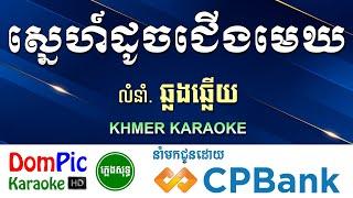 ស្នេហ៍ដូចជើងមេឃ ឆ្លងឆ្លើយ ភ្លេងសុទ្ធ - Sne Doch Jerng Mek Pleng Sot - DomPic Karaoke