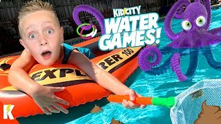 Scoopy the Poopy! Water Games FAMILY BATTLE with KidCity Family!
