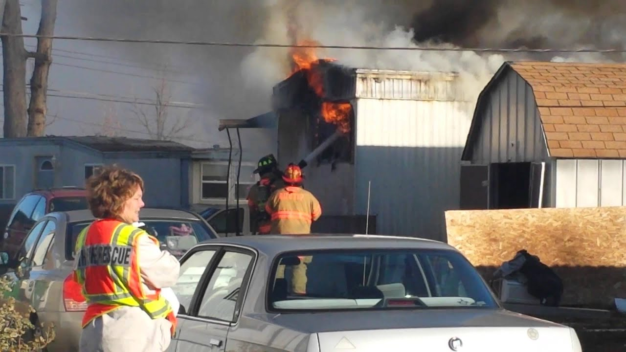 Mobile Home Catches Fire In Bath Township
