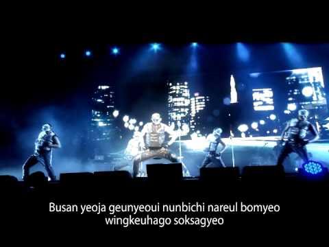 [K-POP, Live] Busan Woman (by RAIN) - karaoke ver.(CJ E&M)