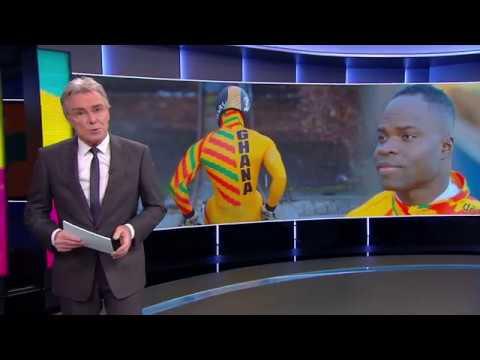 Ghanese Nederlander Akwasi Frimpong kwalificeert zich voor de Spelen - NOS acht uur journal