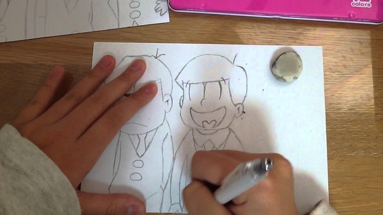 おそ松さんの絵を描いてみた 1模写 Youtube