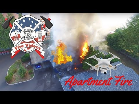 2 Alarm Commercial Apartment Fire, McMinnville, Oregon Attic and Tree burn flashover rollover