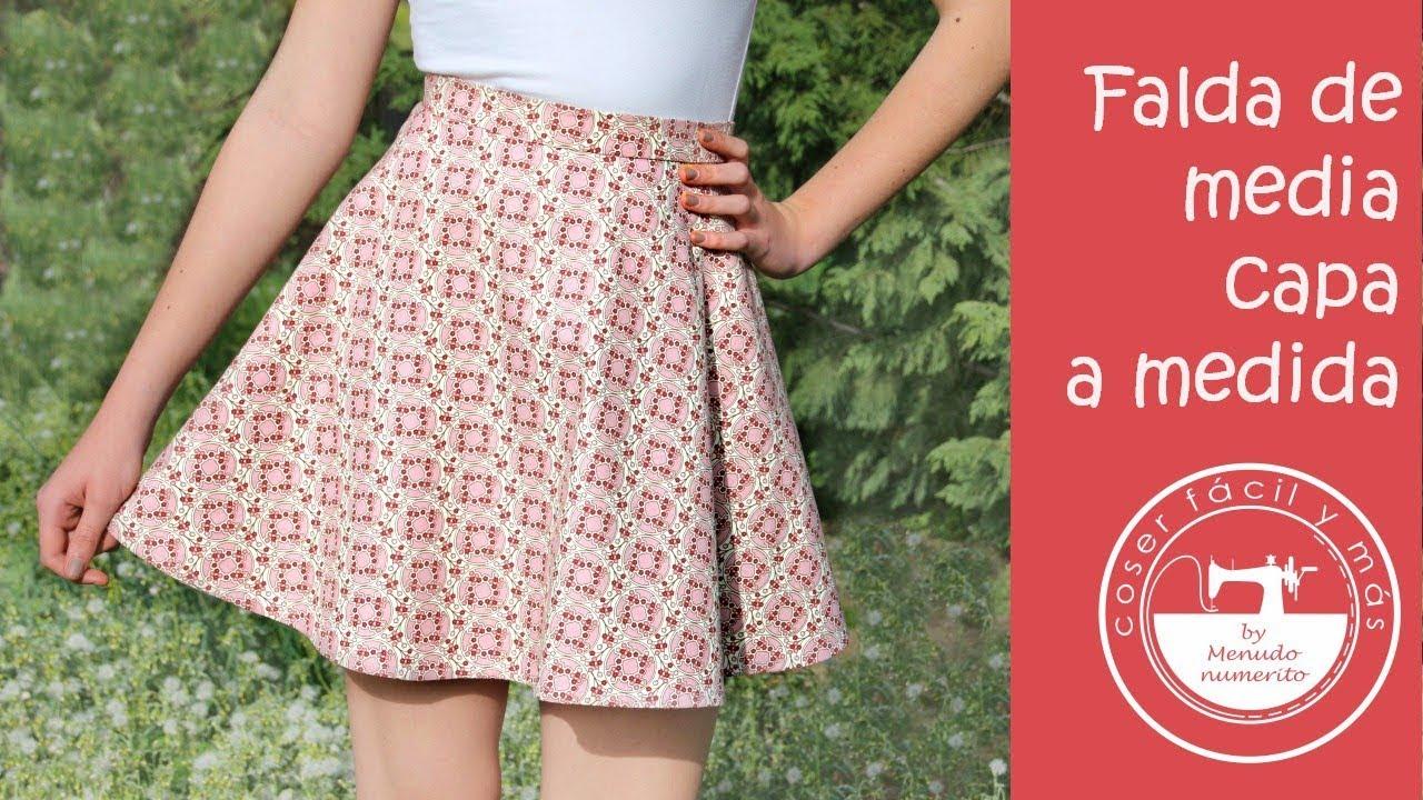 b462cf810 Falda de media capa o semicircular a medida, fácil
