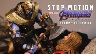 STOP MOTION - Recreation Avengers: Endgame Scenes | Thanos vs Captain America, Iron Man & Thor