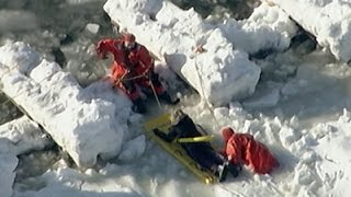 Raw: Teenage Girl Rescued From NJ Ice