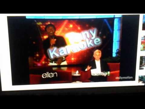 Tony karaoke  on  ellen  May 7 2012