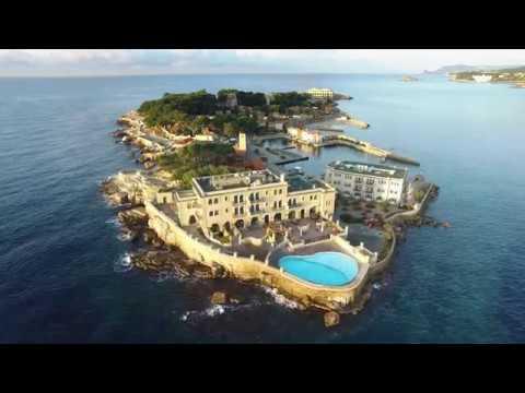 Aerial video of Bendor island, Bandol, France