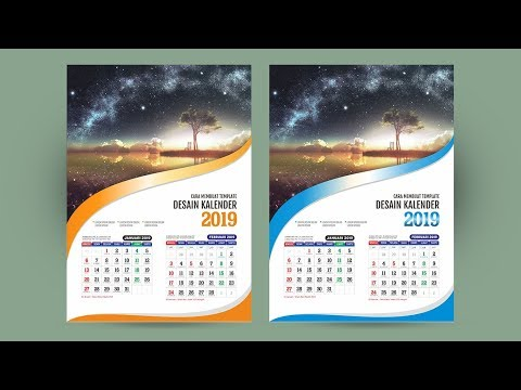 membuat desain kalender dinding di coreldraw youtube. Black Bedroom Furniture Sets. Home Design Ideas