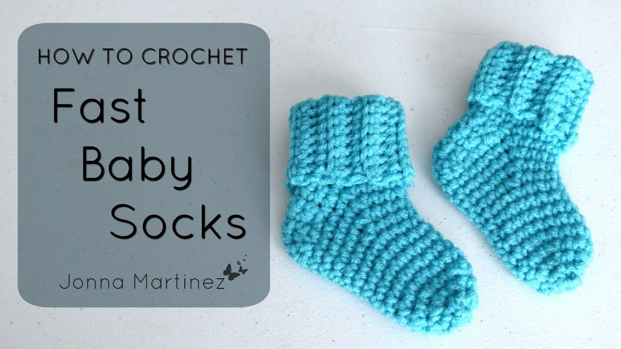 How To Crochet Fast Baby Socks Youtube