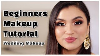 ♡ Step By Step Makeup Tutorial For Beginners (HINDI) ♡ | Wedding Makeup | BeautiCo.