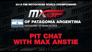 Pit Chat with Max Anstie MXGP of Patagonia Argentina 2015 - motocross