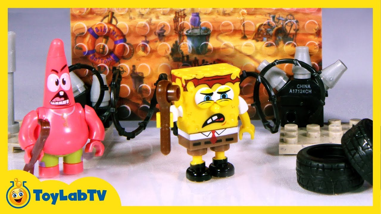 SpongeBob Sponge Out of Water Toys, Mega Bloks Post Apocalyptic Pack, and  Imaginext Action Figures