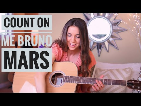 Count On Me - Bruno Mars // Guitar Tutorial (Picking & Strumming)