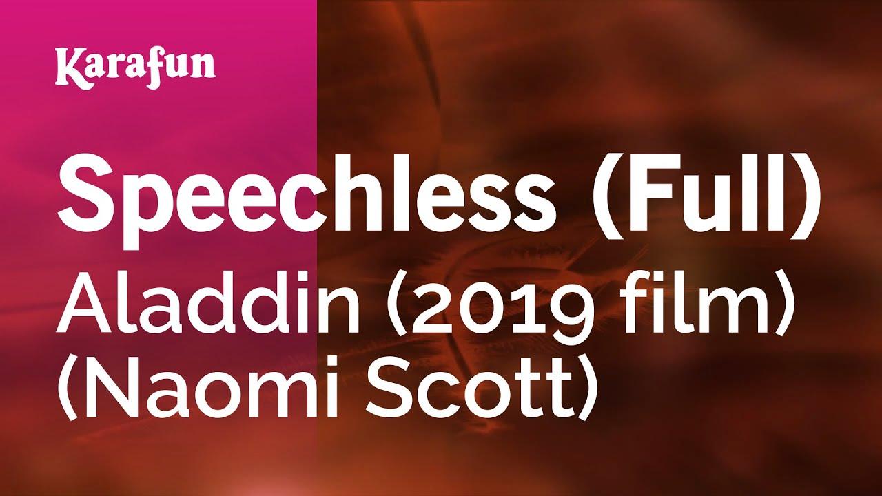 Speechless (Full) - Aladdin (2019 film) (Naomi Scott) | Karaoke Version | KaraFun
