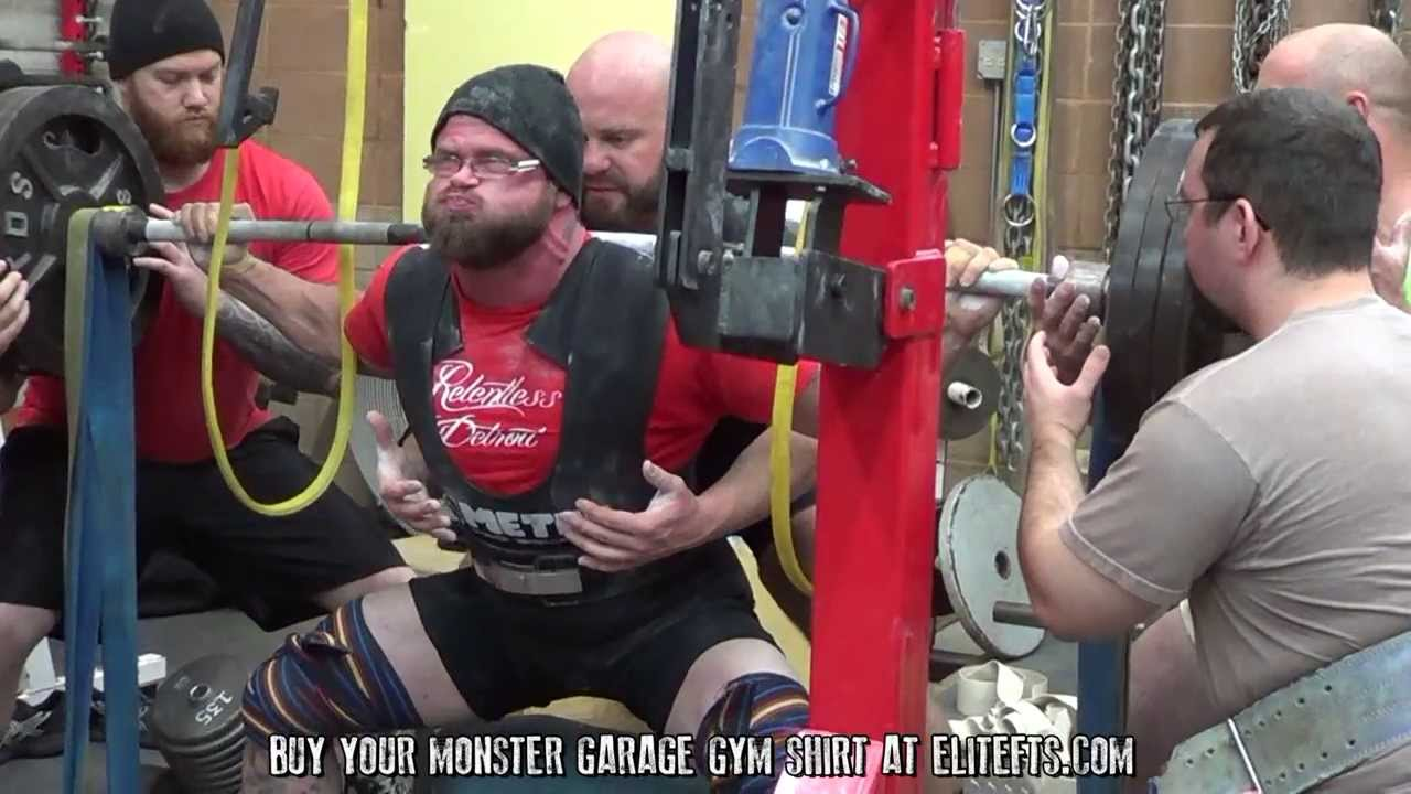 Squat training monster garage gym youtube