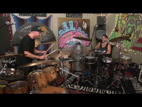 Drummers In A Drum Room | Derek Taylor of BANKS with Elmo Lovano