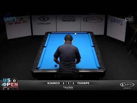 2017 US Open 8-Ball: Kiamco vs Thorpe