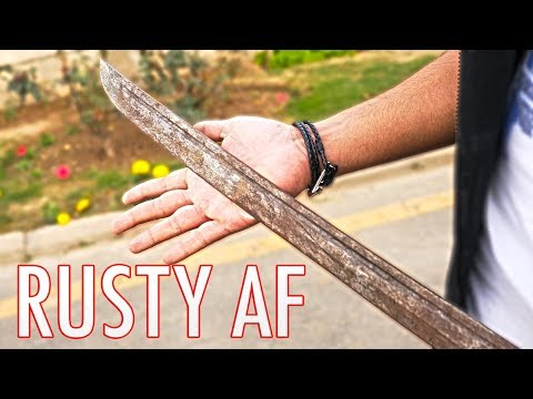 Removing RUST from a KATANA!