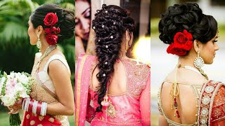 New Hairstyle For Reception||Try This Hairstyle For Wedding Lehenga/Ghagra Or Gown||