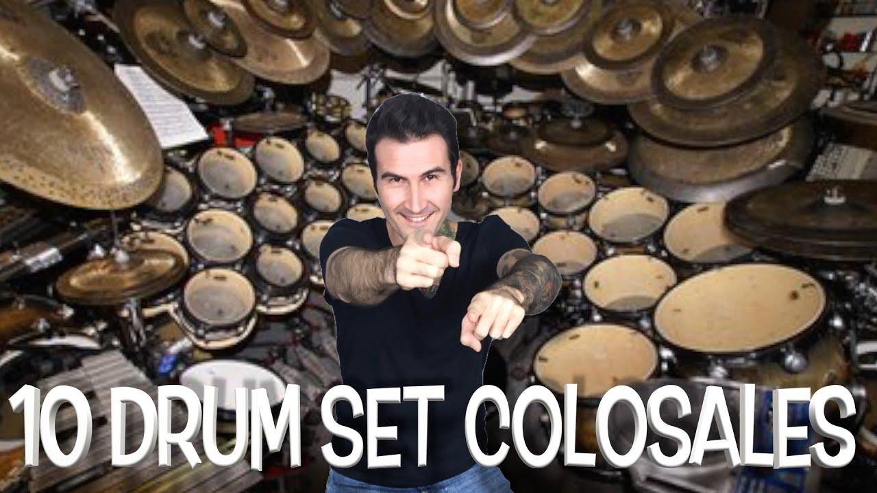 10 Drum Sets Colosales