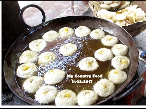 Amazing Tasty Khaja - Street Food of India - Indian street food of kolkata - My Country Food