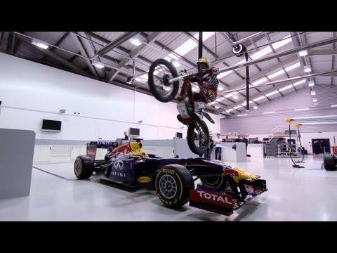 Dougie Lampkin Visits Red Bull Racing