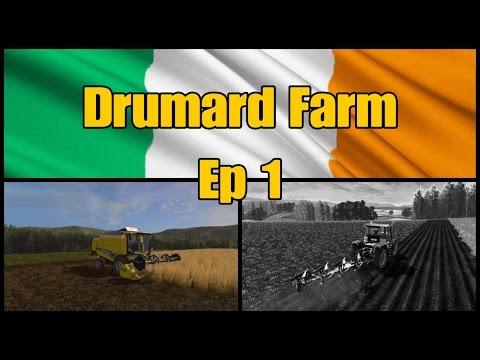 Let's Play Farming Simulator 17 PS4: Drumard Farm, Ep 1