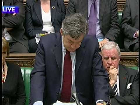 Prime Ministers Question time Today 11th March 2009. David Cameron Returns