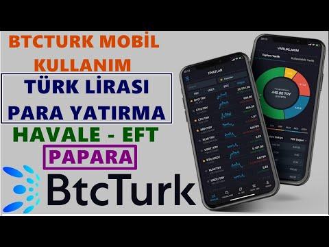 Btcturk Pro Mobil Kullanım Para Yatırma 2020 📱 Btcturk Mobil Türk Lirası Yatırma Havale Eft Papara